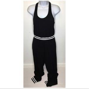 Rolla Coaster   NWT Black w/ White Jogger Jumpsuit